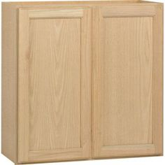 $84.00 Hampton Bay 30x30x12 in. Wall Cabinet in Unfinished Oak-W3030OHD at The Home Depot... For the space in the pantry after we get the tankless water heater! Also for above the washer and dryer