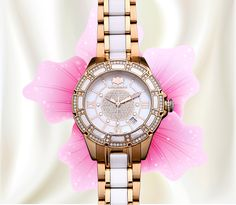 Explore your Galaxy... 62% Off- Womens Ceramic Watches Rose Gold Diamond Two Tone White MOP Luxurman Galaxy #Diamondwatch #Womenwatches #Luxurman #itshot