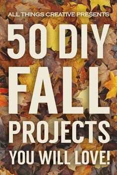 50 Fall Projects for your enjoyment! Includes crafts, food, and home decor ideas!