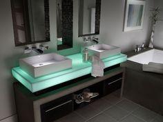 Столешница из искусственного камня для ванной комнаты