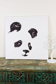 Panda Canvas Art from Earthbound Trading! So cute #adorable #wallart