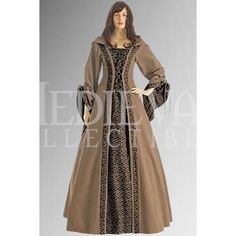 Brown Medieval Maiden Hooded Dress - MCI-132 by Dark Knight Armoury