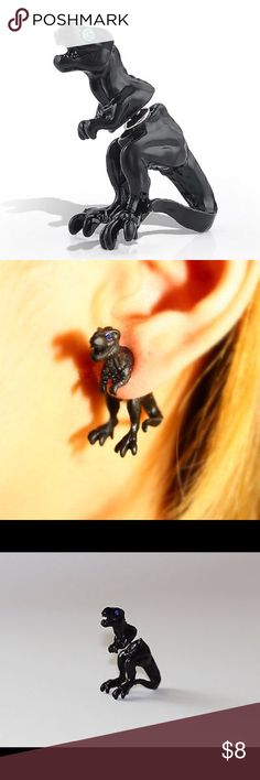 Black Dinosaur Earrings New super cute black dinosaur earrings. Bundle and save. Jewelry Earrings