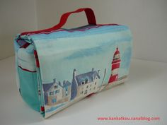 The foldable toilet bag Large Toiletry Bag, Diy Patches, Sewing Accessories, Diaper Bag, Crochet, Bags, Pop Couture, Design, Scrappy Quilts