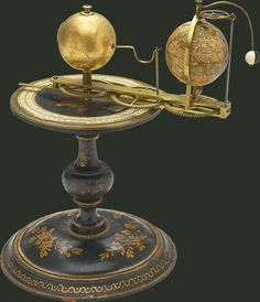 History of Science Museum - Galileo Museum - Florence. Tellurium Copernican planetarium model to illustrate terrestrial and lunar revolutions around the sun Attributed to Charles-François Delamarche, c.