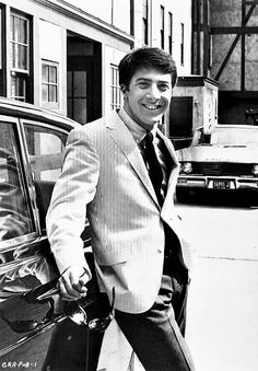 Dustin Hoffman on the set of The Graduate, 1967.