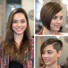 #hairdare #hairstyles #women Super Short Hair, Short Hair Cuts, Short Hair Styles, Modern Hairstyles, Short Hairstyles For Women, Shaved Hair Women, Before And After Haircut, Buzzed Hair, Cut My Hair