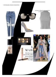 """""""Untitled #198"""" by nihada106 ❤ liked on Polyvore featuring Glamorous, Topshop, Jimmy Choo, Linda Farrow, MAKE UP FOR EVER, Maybelline, By Terry, women's clothing, women's fashion and women"""