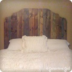 Use different stains on the headboard slats for interest. -->  How to Make a Wood Headboard {diy headboard}