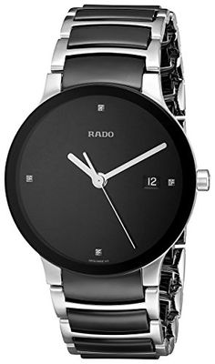 Rado Women's R30934712 Centrix Black Ceramic Bracelet Watch -- You can get more details by clicking on the image.