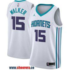 ddbfc886311 Men s Nike Charlotte Hornets  15 Kemba Walker White NBA Jordan Swingman  Association Edition Jersey