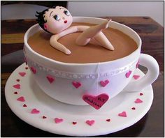 Betty Boop in a Tea Cup