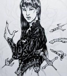 Mia (Work in progress) by @Fictograph
