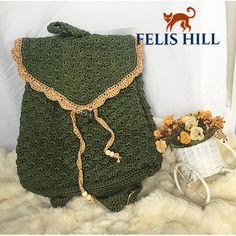 Handmade Crochet Backpack for Moms and Girls  schoolbag