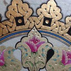 #ShareIG Bir çiçekle ömür bitmez; çoğalır... #eminegeçtan #tezhib #tezhip #illumination Illuminated Letters, Illuminated Manuscript, Zentangle, Illumination Art, Turkish Art, Arabic Art, Islamic Art Calligraphy, Various Artists, Design Crafts