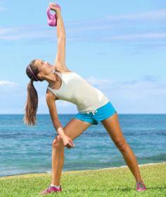 woman doing kettlebell exercise