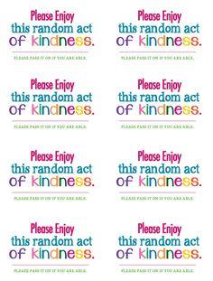 random acts of kindness #rak