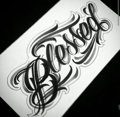 Discover recipes, home ideas, style inspiration and other ideas to try. Tattoo Lettering Styles, Graffiti Lettering Fonts, Chicano Lettering, Tattoo Script, Tattoo Fonts, Hand Lettering, Future Tattoos, Tattoos For Guys, Bleistift Tattoo