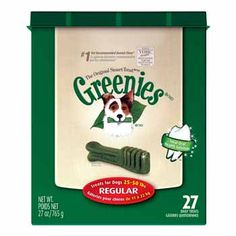 """Greenies Dental Treats for Dogs Regular  """"Use this along with daily teeth brushing."""""""