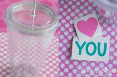 Tutorial :: How to decorate tumbler cups with vinyl and the Silhouette