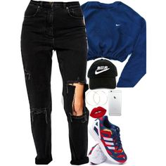 A fashion look from August 2015 featuring NIKE sweatshirts, ASOS jeans and adidas sneakers. Browse and shop related looks.