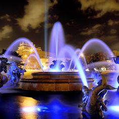 Kansas City fountain - KC Royal blue!
