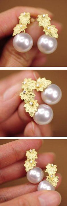 saltwater pearl earrings