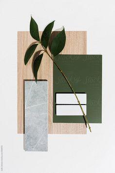 Mood board interior design finishes by Jodie Johnson - Flatlay, Mood board - Stocksy United Mood Board Interior, Interior Design Boards, Deco Restaurant, Material Board, Concept Board, Colour Board, Color Pallets, Colour Schemes, Decoration