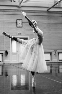 Ballerina in black and white.