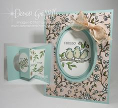 Two for Thursday ~ Pop Out Swing Card Vi. - Two for Thursday ~ Pop Out Swing Card Videos – Dawn's Stamping Thoughts - Fancy Fold Cards, Folded Cards, Dawns Stamping Thoughts, Stampin Up Karten, Swing Card, Stampin Up Catalog, Stamping Up Cards, Rubber Stamping, Bird Cards