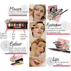 """""""Classic 1950's makeup look"""" by ellapage on Polyvore"""