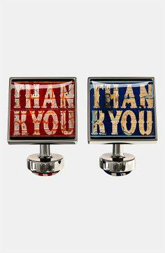 Würkin Stiffs 'Thank You' Square Cuff Links