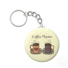 Coffee Thyme key chain