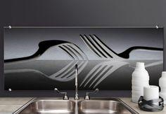 Pannelli paraschizzi - Pannello paraschizzi De Kogel - Posate design - panoramica