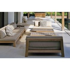 Outdoor Sofa, Outdoor Furniture Plans, Outside Furniture, Outdoor Seating, Sofa Furniture, Outdoor Living, Garden Furniture, Outdoor Spaces, Furniture Design