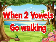 When 2 Vowels Go Walking | Phonics Song for Kids | Jack Hartmann - YouTube
