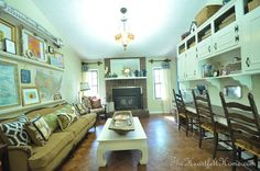 living room+Homeschool room. Where would we put the armoires?