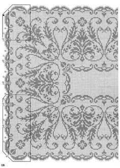 Xmas Cross Stitch, Cross Stitch Borders, Cross Stitch Designs, Cross Stitching, Cross Stitch Embroidery, Cross Stitch Patterns, Crochet Curtains, Crochet Tablecloth, Crochet Doilies