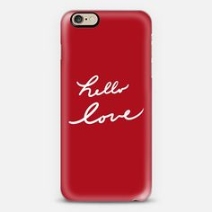 Hello Love Red - Classic Snap Case