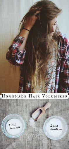 Homemade Hair Volumizer Recipe:  http://blog.freepeople.com/2014/08/homemade-hair-volumizer/