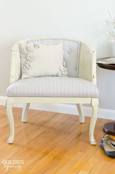 Reupholstered Tufted Cane Chair - The Golden Sycamore