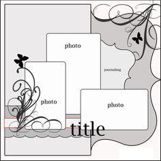 blank scrapbook layouts