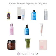 Korean Skincare Regimen: Oily / Acne-prone Skin - Peach & Lily