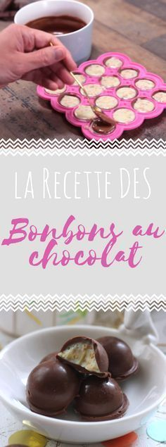 Découvrez la recette des bonbons au chocolat en vidéo Chocolate Bonbon, Chocolate Candy Recipes, Bakers Chocolate, Chocolate Candy Molds, Artisan Chocolate, Best Chocolate, Chocolate Chip Cookies, Chocolates, Lollipop Candy