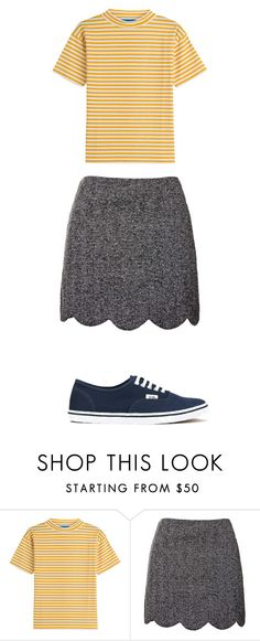 """""""Chuck it together"""" by hannah-rae-2 on Polyvore featuring MiH Jeans, Topshop, Vans, women's clothing, women's fashion, women, female, woman, misses and juniors"""