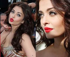 Bollywood star Aishwarya Rai Bachchan will join the social media for a day to promote her upcoming red carpet appearance at the Cannes International Festival. Sonam Kapoor Cannes, Aishwarya Rai Cannes, Love Makeup, Makeup Looks, Cannes 2015, Bold Lipstick, Indian Film Actress, Bollywood Stars, Red Carpet Looks