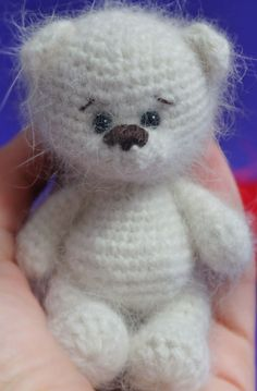 "Gratis Häkelanleitung Bär ""Minimishka"" - aspassigesHäkeln - Leads For Amigurumi Crochet Teddy, Crochet Patterns Amigurumi, Amigurumi Doll, Crochet Baby, Free Crochet, Crochet Bear Patterns, Crochet Doll Pattern, Crochet Dolls, Knitting Patterns"