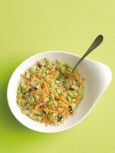 Quinoa-Edamame Salad with Sesame-Ginger Dressing: Self.com
