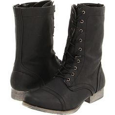 $69.99 Call it Spring-Purpora Combat Boots, Wedges, Spring, Shoes, Black, Style, Fashion, Moda, Combat Boot