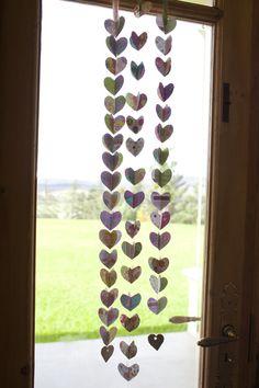 Paper Heart Decorations